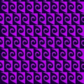 Waves Purple on Black 2