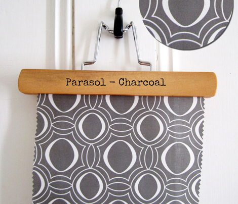 Parasol - Modern Geometric Charcoal  Grey