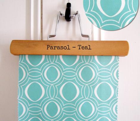 Parasol - Modern Geometric Aqua Turquoise
