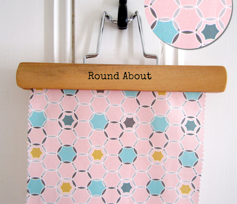 Round About - Geometric Hexagon Dot Pink