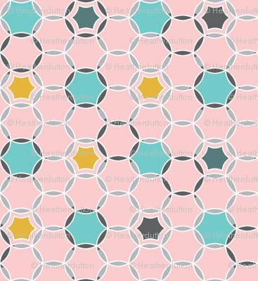 Round About - Geometric Hexagon Dot Pink