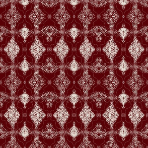 Marsala lace diamond damask