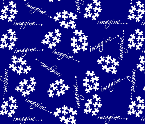 Autism Awaeness Imagine-ed fabric by hot4tees_bg@yahoo_com on Spoonflower - custom fabric