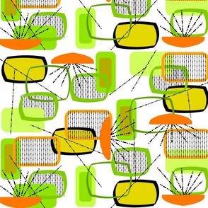 Mid-century Modern Abstract Citrus