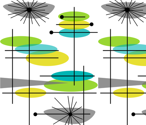 Mid-Century Modern Abstract 3 fabric by hot4tees_bg@yahoo_com on Spoonflower - custom fabric