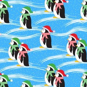 Merry Penguins (blue)