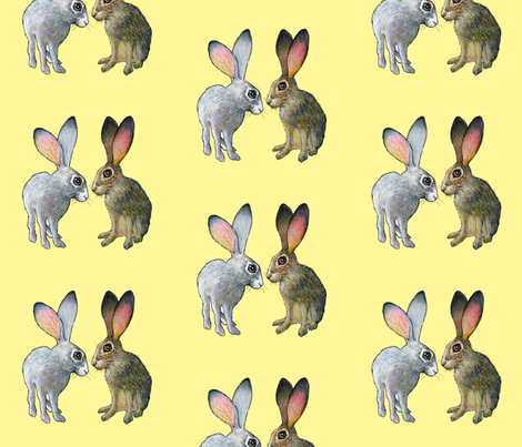 rabbits rabbits rabbits fabric by golders on Spoonflower - custom fabric