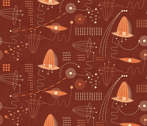 Red Planet Project Plot fabric by spellstone on Spoonflower - custom fabric