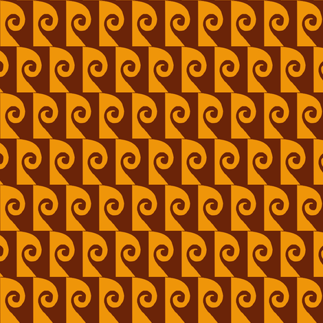 Waves Brown Tan fabric by eve_catt_art on Spoonflower - custom fabric
