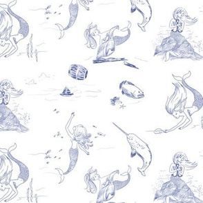 The Mermaid and the Sailor Toile