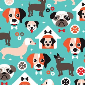 Adorable gender neutral puppy illustration dogs illustration