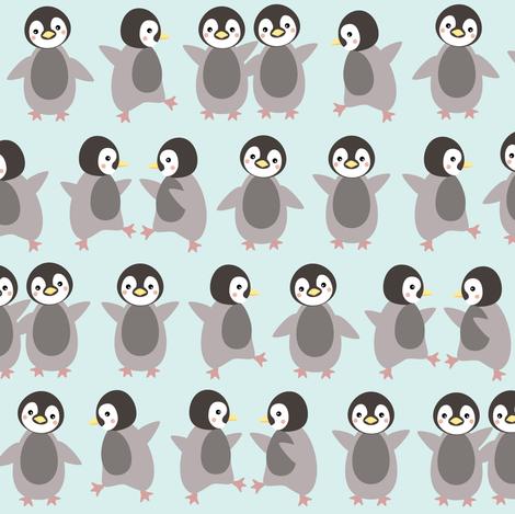 Just penguins fabric by heleenvanbuul on Spoonflower - custom fabric