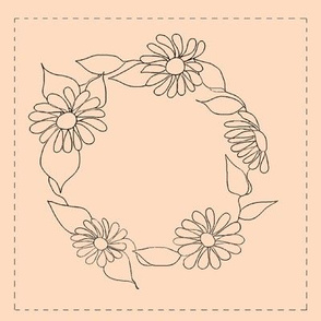 Wreath Of Flowers(tan background)