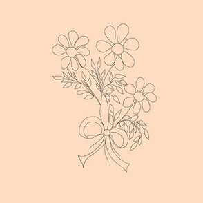 Floral Bouquet (tan background)