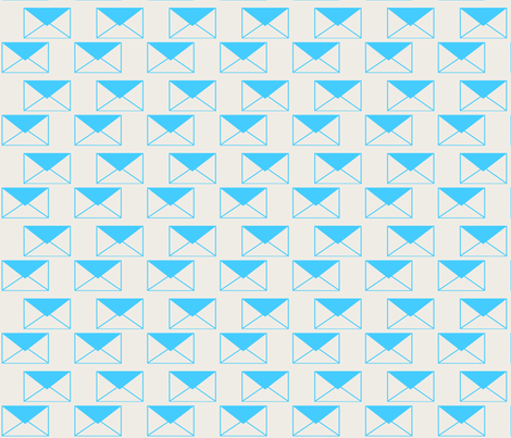 Envelop Envelopes in Sky fabric by pennydog on Spoonflower - custom fabric