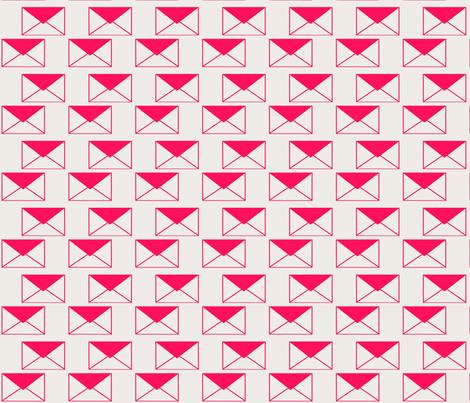 Envelop Envelopes in Fuchsia fabric by pennydog on Spoonflower - custom fabric