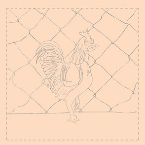Rooster(tan background)