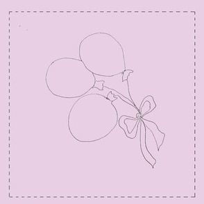 Balloon Bouquet (pink background)