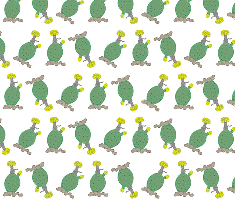 Catcus fabric by cordscritters on Spoonflower - custom fabric