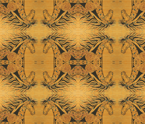 Horse of a Different Color fabric by sweber on Spoonflower - custom fabric