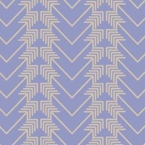 tan arrow herringbone on purple