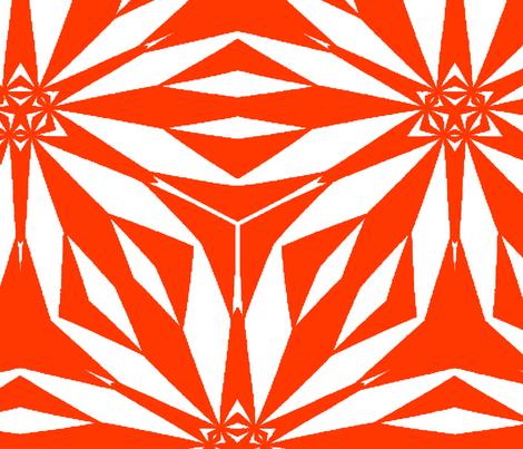 Flor_big_coral fabric by cush_barcelona on Spoonflower - custom fabric
