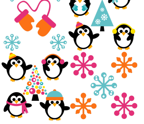 Winter Penguin Pals fabric by krwdesigns on Spoonflower - custom fabric