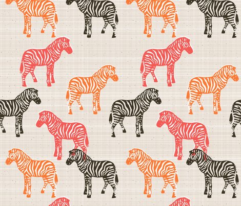 Canvas Zebras fabric by mrshervi on Spoonflower - custom fabric