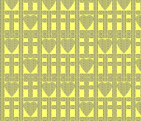 block-print-hearts-cross-yellow fabric by lonna_jordan on Spoonflower - custom fabric