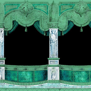 Box Seats ~ Verdigris ~ Large