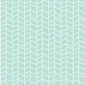 Herringbone - Blue Mint
