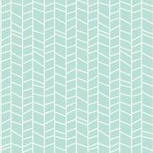 Herringbone - Blue Mint
