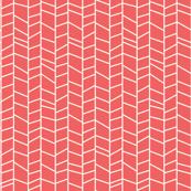 Pink Coral Herringbone