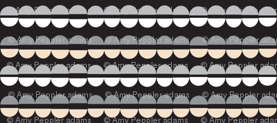 Popcorn Strings (Black & White) || Christmas geometric abstract holiday garland ornament stripes