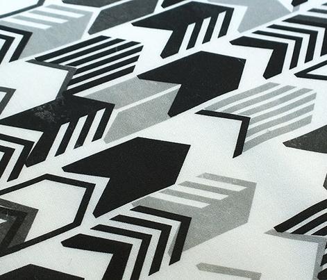 Tribal Arrows (Black & White)    geometric chevron arrow native arrowhead stripes photocopy