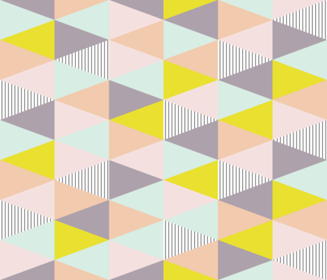 triangle quilt cloth - pastel/purple/stripe fabric by seekatesewfabric on Spoonflower - custom fabric