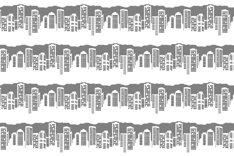 Winter in the City (Day) fabric by esheepdesigns on Spoonflower - custom fabric