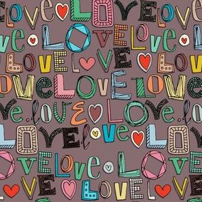 l o v e LOVE mocha