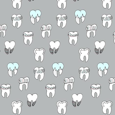 Teeth cool fabric by b__woolf on Spoonflower - custom fabric