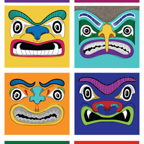 "Totem Faces //54"" wide"