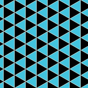 Triangle geometric black and aqua