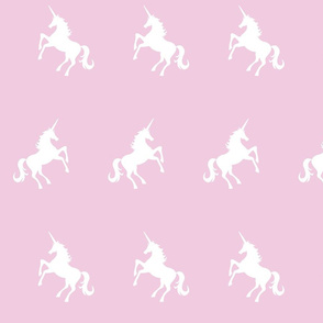 Unicorn White on Pink