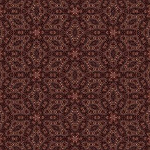 Dark Brown Digital Floral