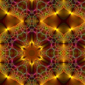Bronze Gold Brown and Green Fractal