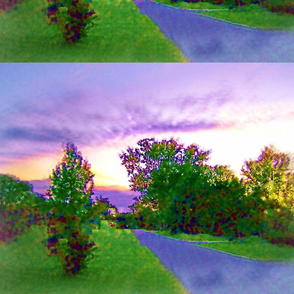 Air Brushed Landscape Setting
