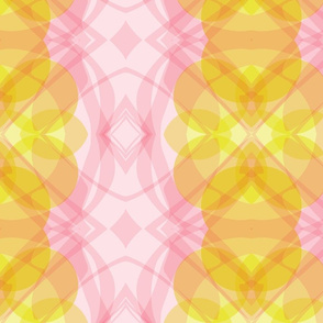 Abstract pink yellow