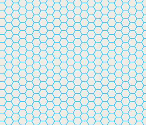 Envelop Honeycomb in Sky fabric by pennydog on Spoonflower - custom fabric