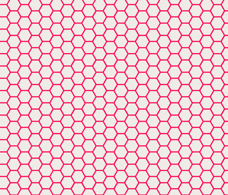 Envelop Honeycomb in Fuchsia fabric by pennydog on Spoonflower - custom fabric