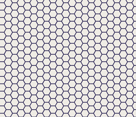 Envelop Honeycomb in Mailman fabric by pennydog on Spoonflower - custom fabric