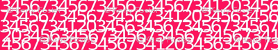 Envelop Numbers in Fuchsia